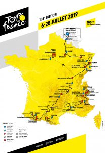 Strecke Tour de France 2019