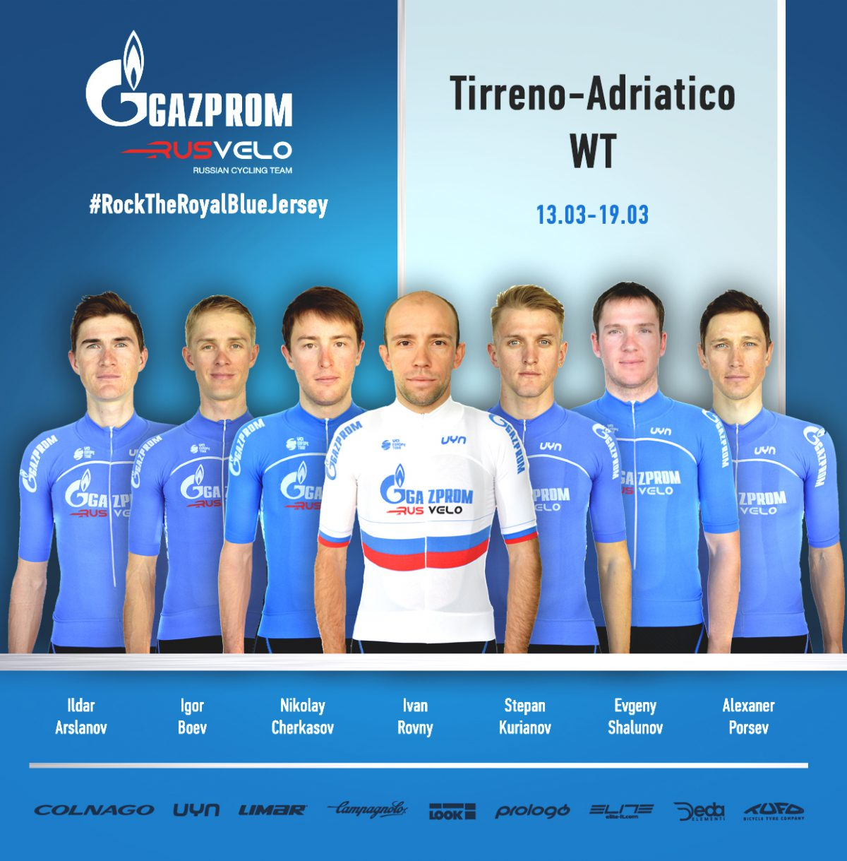 Gazprom-RusVelo für Tirreno-Adriatico