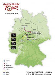 Strecke Deutschland Tour 2019