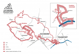 Strecke Elite Eschborn-Frankfurt 2019