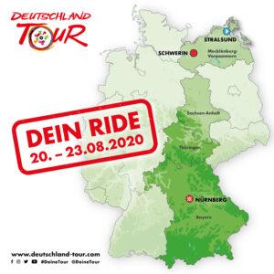 Karte Dein Ride
