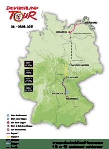 Karte Deutschland Tour 2021